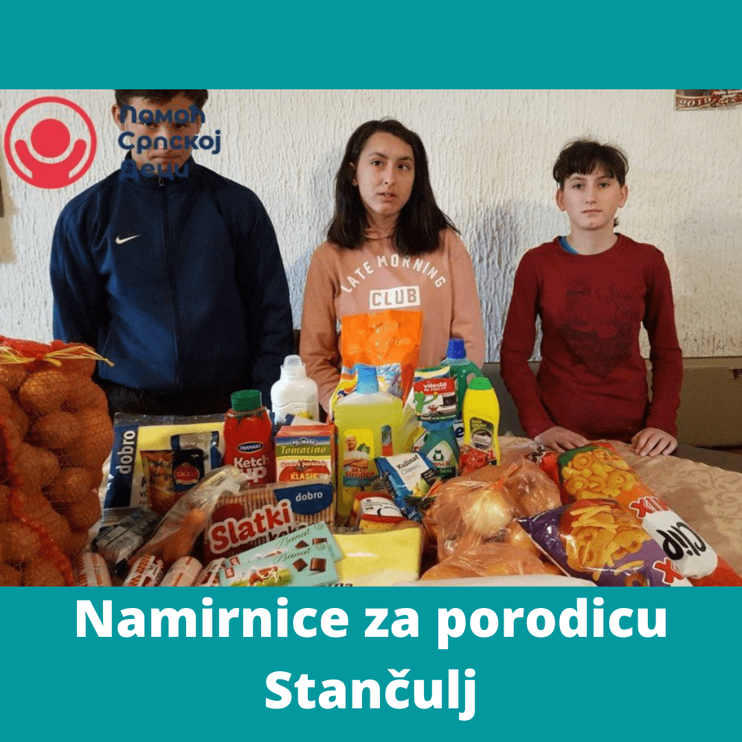 Groceries for the Stančulj family 4